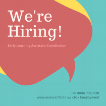 We're Hiring – Assistant Coordinator