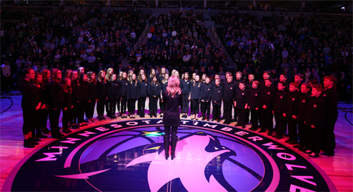 Orono Middle School Spartan Singers at Target Center