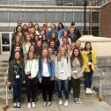 Student journalists from Orono High School