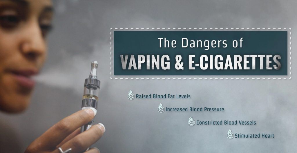 Dangers of vaping graphic