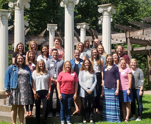 Group picture of new teachers